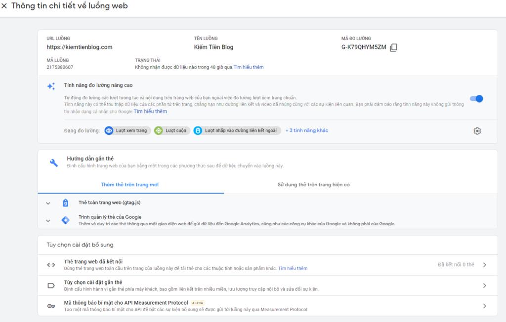 Screenshot 84 2 Google Analytics 4 là gì? Cách lấy mã Google Analytics 4 và chèn vào website